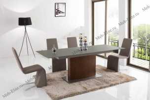 ЕСФ столовая комплект: стол обеденный 180/220х90 HT2156 + стулья HD6609 4 шт.