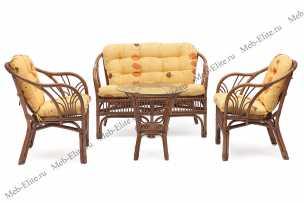 Богота комплект: диван + столик + 2 кресла орех