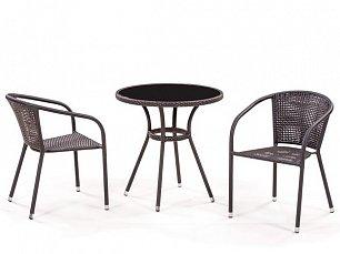 Комплект мебели 2+1 T282ANS/ Y137C-W51-2PCS  иск. ротанг