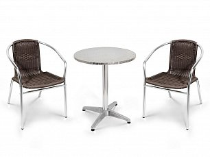 Комплект мебели 2+1 LFT-3099B/T3127-D60 Brown 2Pcs алюминий