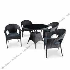 Комплект мебели (иск.ротанг) 4+1 T190A-1/ Y97A
