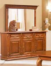 Витовт комод с навесным зеркалом орех