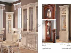 Венеция часы напольные (белые)
