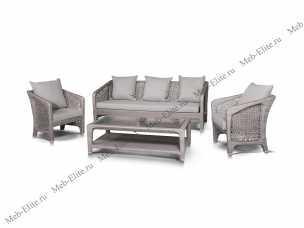 Лабро комплект:диван 3 местный+стол кофейный+2 кресла иск. ротанг