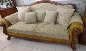 Карпентер 230-1  диван С 3 местный раскладной (Орех, ткань ST9-4)
