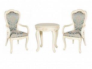 Милано комплект: чайный стол + 2 стула  подлокотниками арт. MK-1803-IV