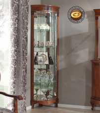 Панамар (Panamar) витрина угловая 879.001 орех/вишня