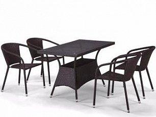 Комплект мебели 4+1 T198D/Y137C-W53 Brown 4Pcs иск. ротанг