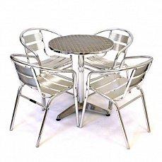 Комплект мебели 4+1 LFT-3059/T3127-D60 Silver 4Pcs алюминий