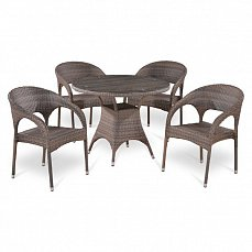 Комплект мебели 4+1 T220СG/ Y90СG-W1289 иск. ротанг