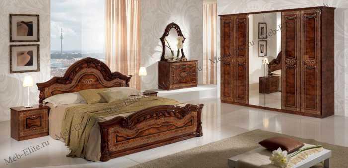 Селена спальня орех