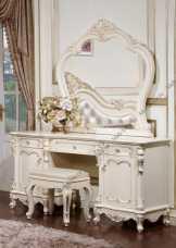Глория стол туалетный с зеркалом слоновая кость