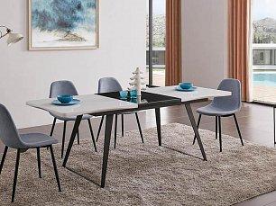 ЕСФ столовая комплект: стол обеденный 154/209х80 DT-93 + стулья DC350 4 шт. глянец