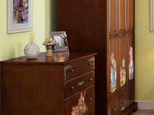 Французкие мотивы шкаф 3 дверный детский (орех)