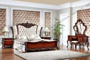 Сусанна 702 спальня комплект: кровать 180+2тумбы прикроватные+туалетный стол с/з+пуф