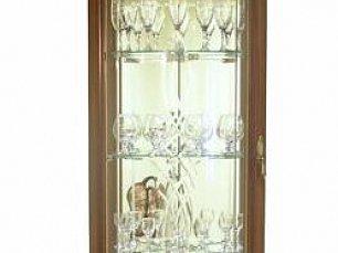 Милан витрина 1-дверная угловая 6 орех