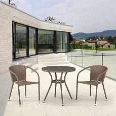 Комплект мебели 2+1 T282ANT/Y137C-W56 Light Brown 2Pcs иск. ротанг