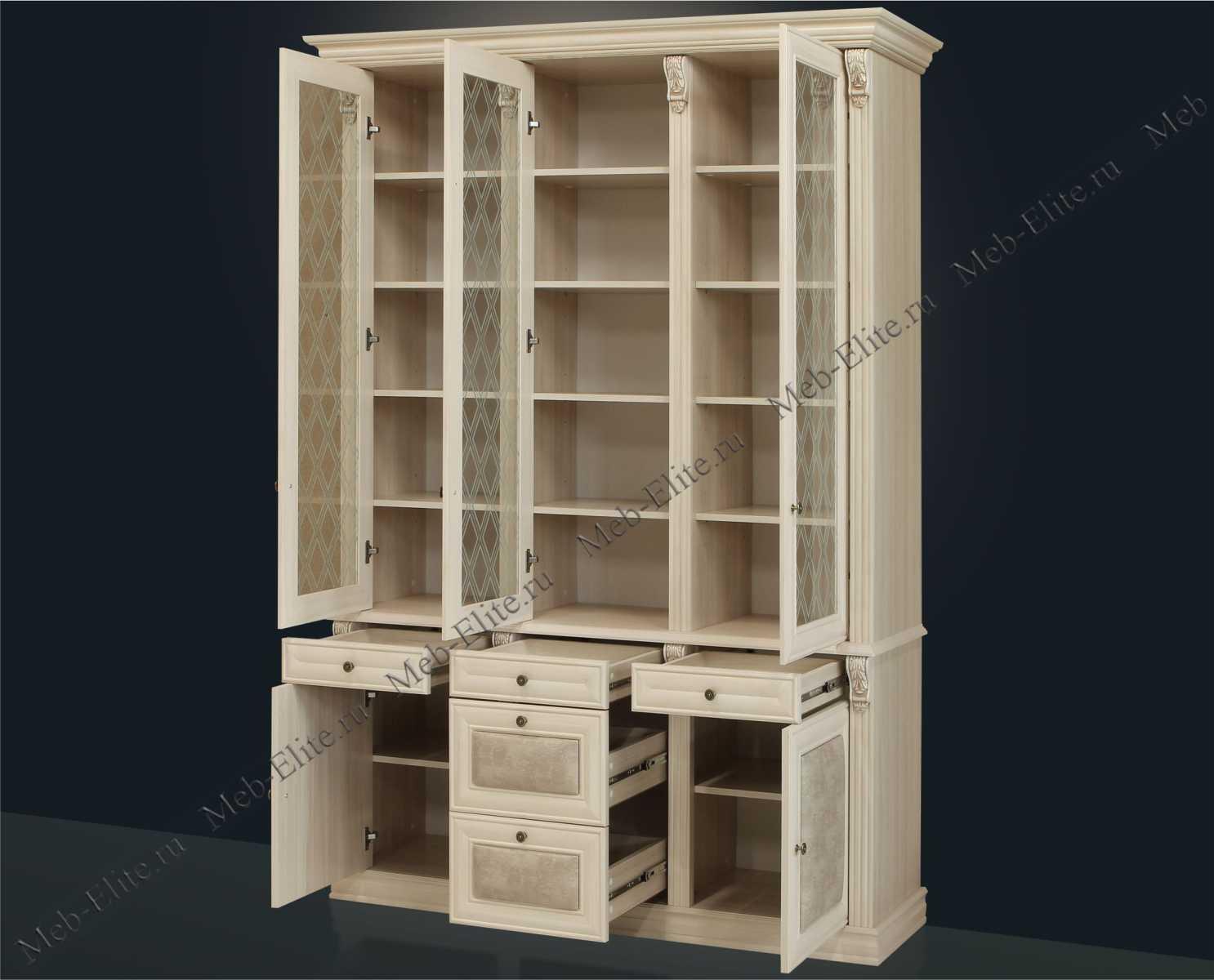 Благо книжный шкаф 3 дверный 5.15-7 - купить со склада в инт.