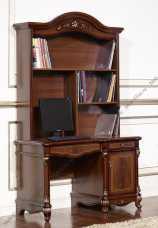 Афина орех стол письменный с надстройкой