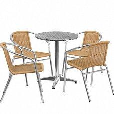 Комплект мебели 4+1 LFT-3099A/T3127-D60 Cappuccino 4Pcs алюминий