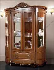 Аллегро SL витрина 4 дверная орех