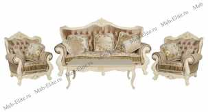 Милано (Фиора) мягкая мебель 3+1+1 (ткань кофейная)