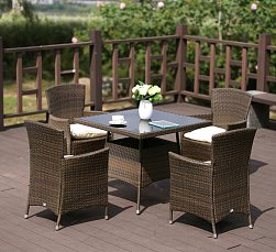 Комплект мебели 4+1 AFM-410SL90x90 4Pcs иск. ротанг