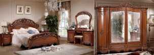 Аллегро 1 д 1 (SL) спальня комплект: кровать 180+тумба прикроватная 2 шт.+туалетный стол с/з+шкаф 6 дверный