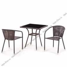 Комплект мебели (иск. ротанг)  2+1 T282BNS/ Y137B-W51-2PCS