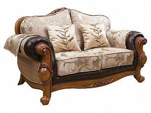 Карпентер 230-1 диван С 2 местный (Орех, ткань JY5680-3 /JY6118-3/2857кожа/JY6120-3/D10033C-3GF)