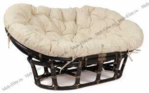 Мамасан кресло античный коричневый
