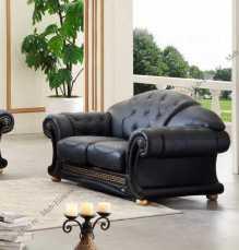Версаче 2 местный диван черный