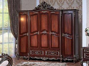 Федерика шкаф 5 дверный орех глянец