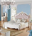 Флорентина спальня комплект: кровать 180х200 арт.1111 + 2 тумбы прикроватные арт. 11-А + туалетный стол арт. 1106 + пуф + шкаф 4 дверный