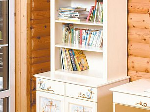 Морская шкаф-стеллаж 2 двери детский