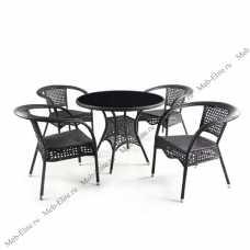 Комплект мебели Лион (иск.ротанг) 4+1 T220C/ Y32