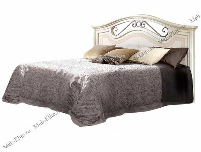 Анна кровать 160х200 с одной спинкой штрих лак