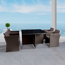Комплект мебели 4+1 Т300А/ Y300А-W53 иск. ротанг