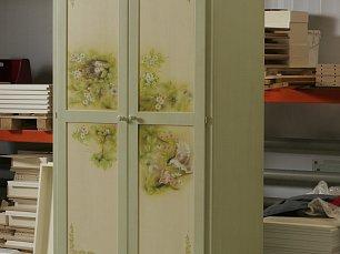 Примавера шкаф 2 дверный (роспись весенняя)