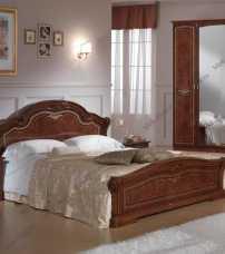 Ирина кровать 160х200 орех