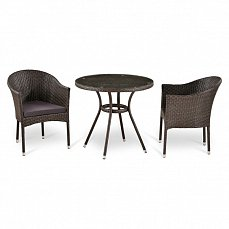Комплект мебели 2+1 T283ANT/Y350-W51 Brown 2Pcs иск. ротанг