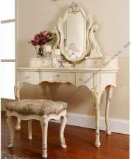 Луи 15 (Louis XV) туалетный стол с зеркалом 852 вайт