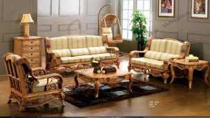 Мик ротанг комплект MK-3405: 3 местный диван + 2 кресла + журнальный столик + чайный столик