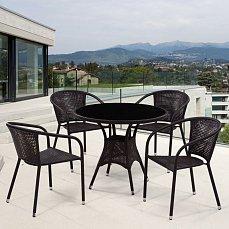 Комплект мебели 4+1 T197ANS/Y137B-W51 Brown 4Pcs иск. ротанг
