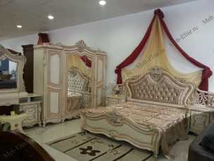 Эсмеральда  спальня комплект: кровать 180 + туал.стол + 2 тумбы + 5дв.шкаф
