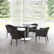 Комплект мебели 4+1 T606SWT/Y350B-W53 Brown 4Pcs иск. ротанг