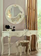 Луиза туалетный стол + зеркало + банкетка MK-5003-WG