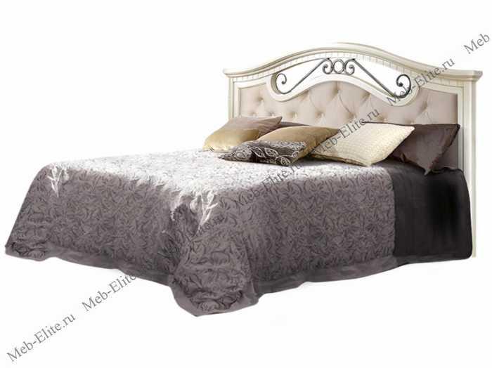 Анна кровать 160х200 с одной спинкой с мягким элементом и подъемным механизмом штрих лак