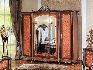 Сандра шкаф 5 дверный с зеркалом радика глянец