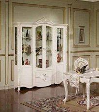 Афина белая с золотом витрина 4 дверная
